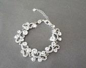Crystal bracelet ~ Brides bracelet ~ Wedding bracelet ~ Sparkling Fabulousness ~ SHANNON