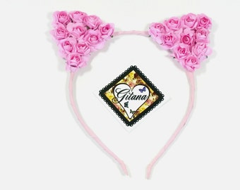 Cat Headband-Ariana Cat Headband-Ariana Cat Ears-Lolita Headband-Lolita Accessories-Neko-Pink-Lolita-Gift For Her-Cat Ears-Fairy kei-kitty