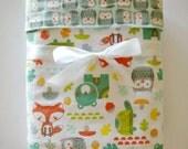 Flannel baby blanket- woodland baby blanket- baby boy blanket- woodland baby bedding- toddler blanket- receiving blankets- girl blankets-