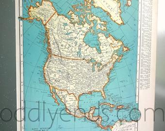 1939 North America Atlas Map