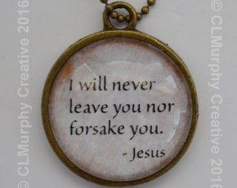 Scripture Necklace Pendant Jewelry Hope Faith Sobriety Living Sober AA NA C L Murphy Creative
