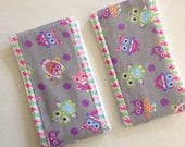 Baby Burp Cloth, Girl Burp Cloth, Baby Accessories, Flannel Burp Cloth, Owls for Baby