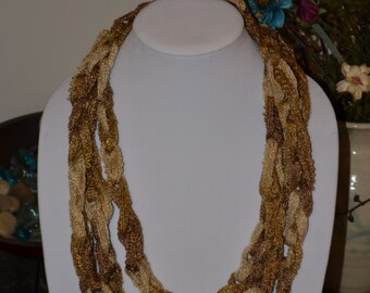 Gold Scarf/Necklace - Many Colors Available!
