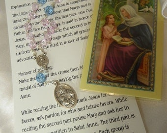 St. Anne Chaplet~Rosary Chaplet,St of grandparents,homemakers,lost articles,mothers,pregnancy,seamstresses,Help to find right husband