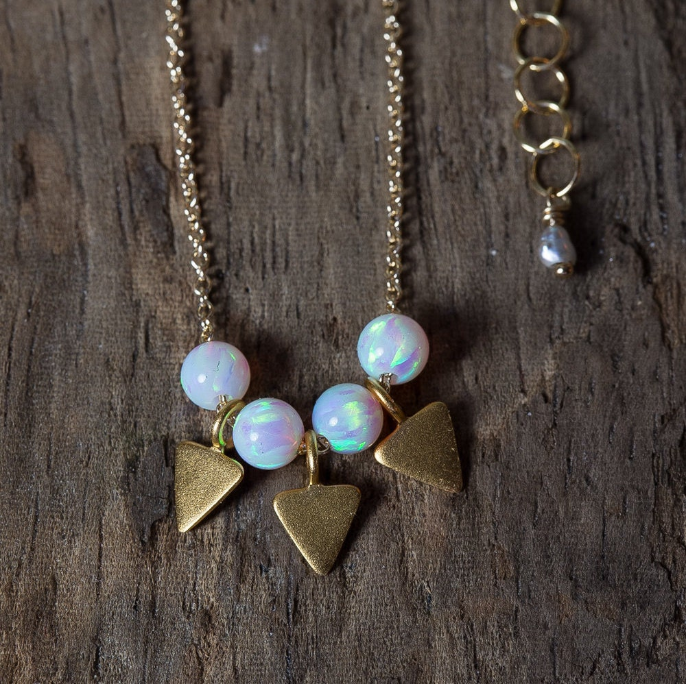 opal necklace gold opal necklace simple opal necklace gold