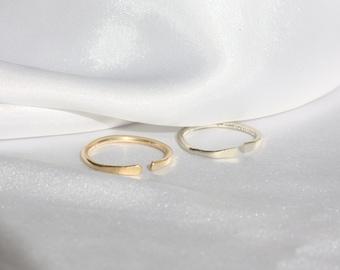 Thin Sterling Silver Ring, Dainty ring, Skinny Ring, Minimal Gold Ring, Stacking Ring rose gold, Simple Ring, Midi Silver Ring