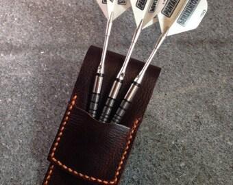 Darts Case, Leather Dart Case, Leather Darts Holders, Darts, Man Cave