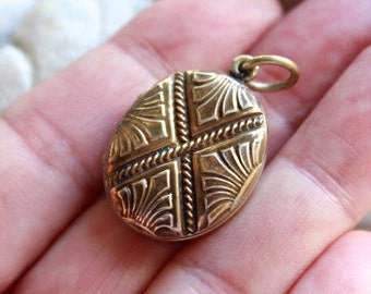 Enamel and Gold Photo Locket / French 1920's