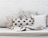 EYES - Long Cushion Cover - Evil Eyes - Mystical Pattern - Home Decor