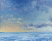 Sky Painting, Clouds Painting, Sea Painting, Sunrise Painting, Sunset Painting, Original Art, Acrylic Landscape, Sky and Water Art, Seascape