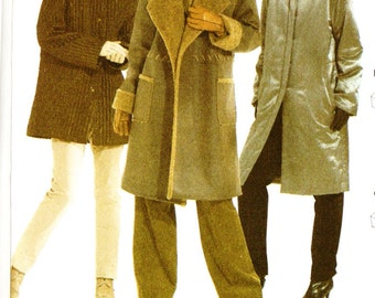 Burda 8293 Misses' Coat in Three Styles with Hood Option Sewing Pattern 10-22 Plus Size