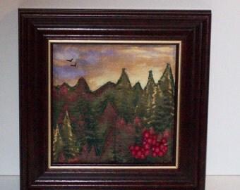 Framed Landscape Quilt / fabric art/ fiber art/ framed art/ : framed quilt art - Adamdwight.com