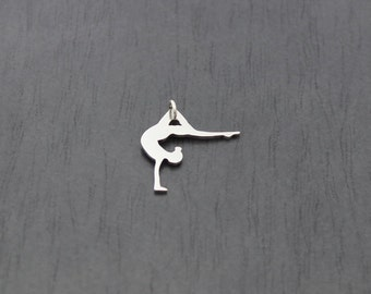 Sterling Silver Handstand Pendant, for any gymnastics, dance, yoga enthusiast