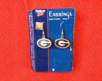 New in Pkg, University of Georgia Ear Rings, SALE:  2.99