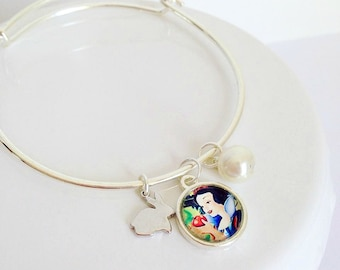 Fairy-tale Snow White Charm Bracelet