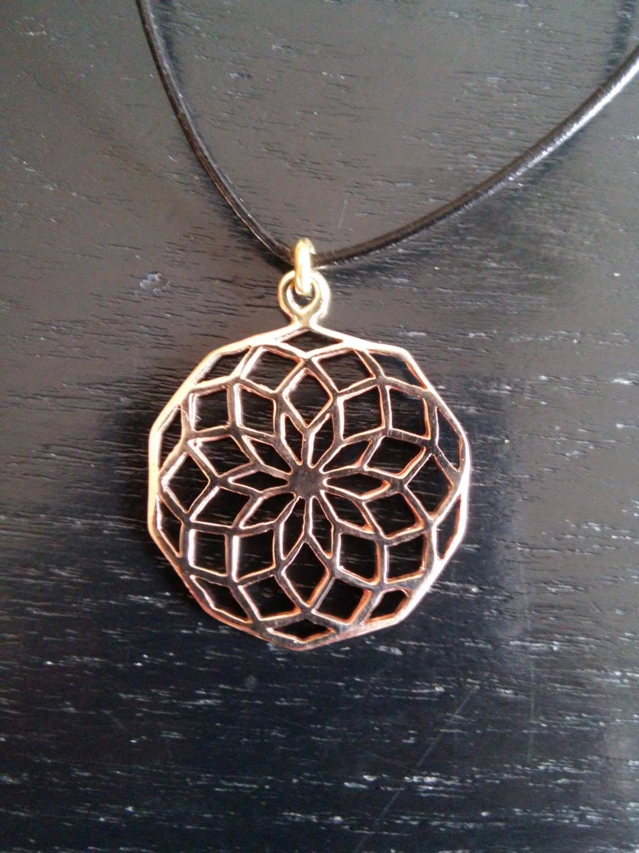 Star of life pendant in bronze sacred geometry seed of life star of life pendant in bronze sacred geometry seed of life flower of aloadofball Images