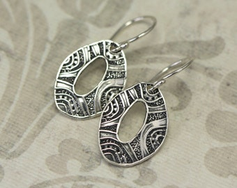 Artisan Sterling Silver Tribal Earrings – Calieri