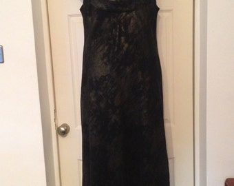 Vintage Long Evening Dress Cowl Neck 16