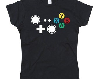 Ladies Xbox Controller Joypad Buttons Tshirt