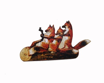 Fox, fox brooch, fox pin, fox jewellery, fantastic mr fox, vintage foxes, vintage brooch,brooch,foxes, woodland brooch, woodland jewellery