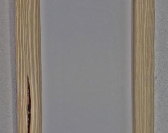 Wooden picture frame door brushed