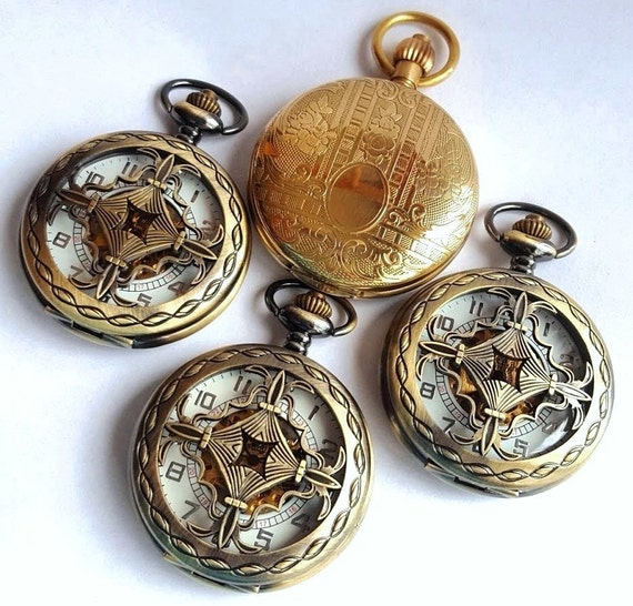 gold pocket groomsmen gift set pocket watches with