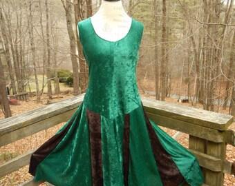 Elf Fairy Tatter Dress in stretch crushed velvet