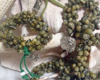 Sage Mermaid Treasure Bangle
