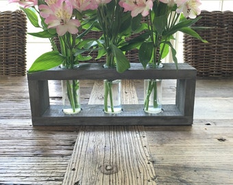 "4 1/2"" Rustic Vase Box with Vases"