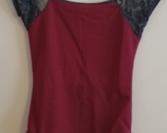 MADE TO ORDER Cap Sleeve Halter Leotard with low scoop back