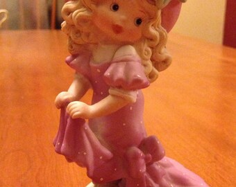 """Sweet Little """"Sisters"""" Ceramic Girl Playing Dress Up  by Enesco"""