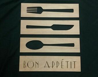 Bon Appétit Kitchen Wall Hanging