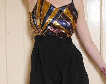 Gold Sequinned Jumpsuit\\ Sequinned playsuit