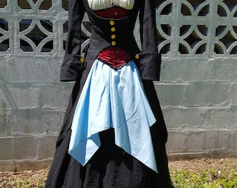 Underbust Pirate Coat - Frock Coat - Pirate, 18th Century, Anne Bonny, Mary Reed, Captain, Elizabeth Swann, Black Sails, Cosplay