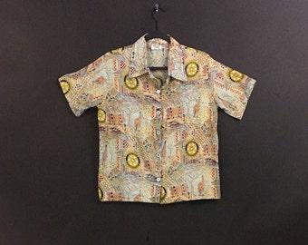 Animal Pattern Button Up Shirt