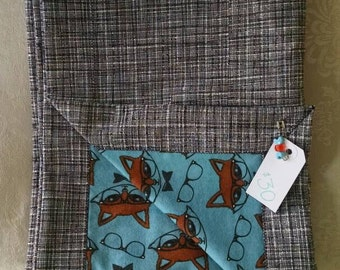 Dapper Fox Baby Blanket