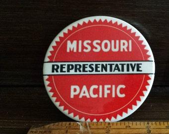 Large Missouri Pacific Representative Badge