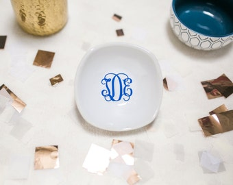 Ring Dish - Monogrammed Jewelry Dish - Ring Holder - Bridesmaid Gift