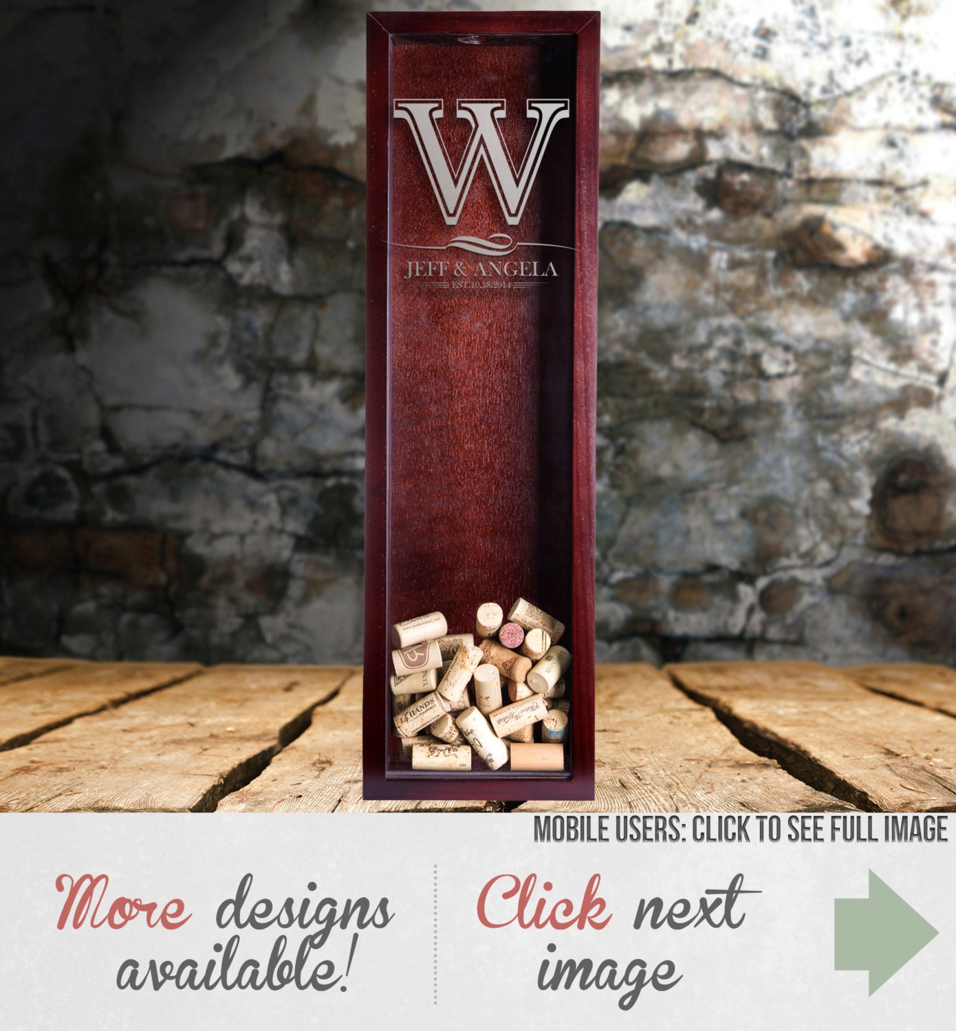 Wedding Gift Shadow Box : Wine Cork Shadow Box Wedding Gift