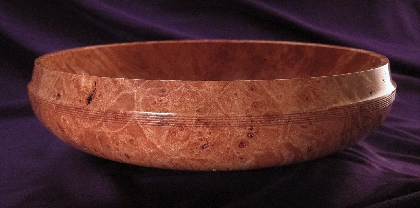Maple burl centerpiece wood bowl wooden fine by