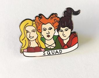 Sale! Hocus Pocus-Squad Enamel Pin, Enamel, Hard Enamel, Pins, Hocus Pocus