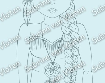 Feathers N0 WINGS! - digi stamp Jpeg + Png