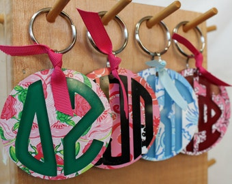 lilly pulitzer sorority keychains