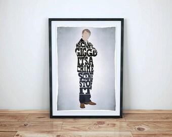 Sherlock - John Watson Quote Poster - Martin Freeman  - Minimalist Typography Poster, Movie Poster, Art Print, Illustration, Wall Art