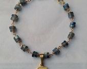 Bracelet - Holy Face 18K Gold Vermeil & Labradorite - 18mm