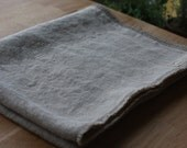 Stonewashed Linen Baby Blanket with fringes - Natural Linen Blanket - Lithuanian flax - Handmade - Soft - Eco-friendly - Natural product