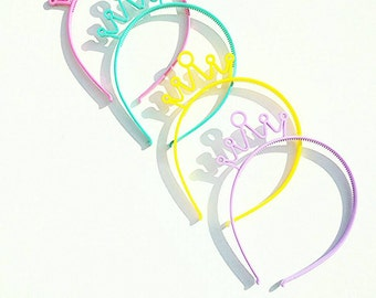 Princess birthday gift set , princess crown party gift, crown headband, princess birthday, crown headband, princess headband, crown set