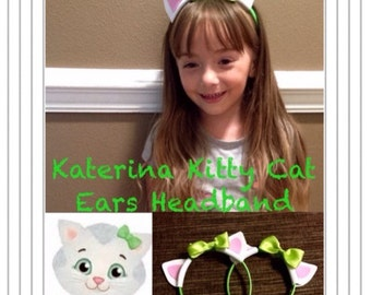 Katerina Kitty Cat Inspired  or Daniel Tiger Inspired Ears Headband (Inspired by Daniel Tiger's Neighborhood)