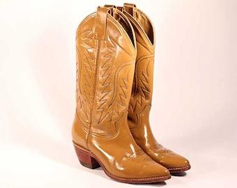 70's Tan Cowboy boots!