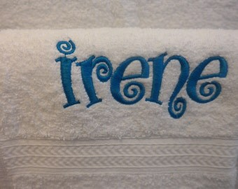 Hand Towel w/ Monogram (Personalized) Embroidered